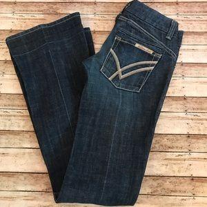 William Rast Savoy Ultra Lowrise Jeans Wide sz 25